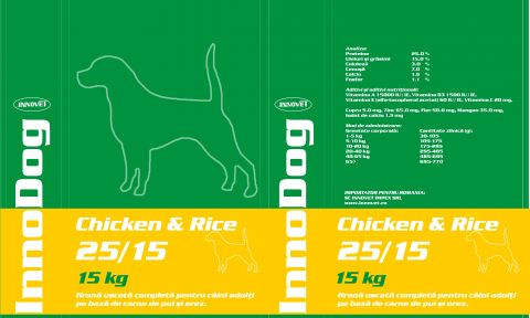 InnoDog Chicken & Rice 25/15 sac 15kg